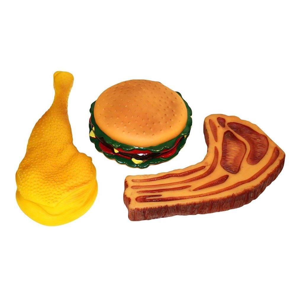 food mix squeaky vinyl dog toy