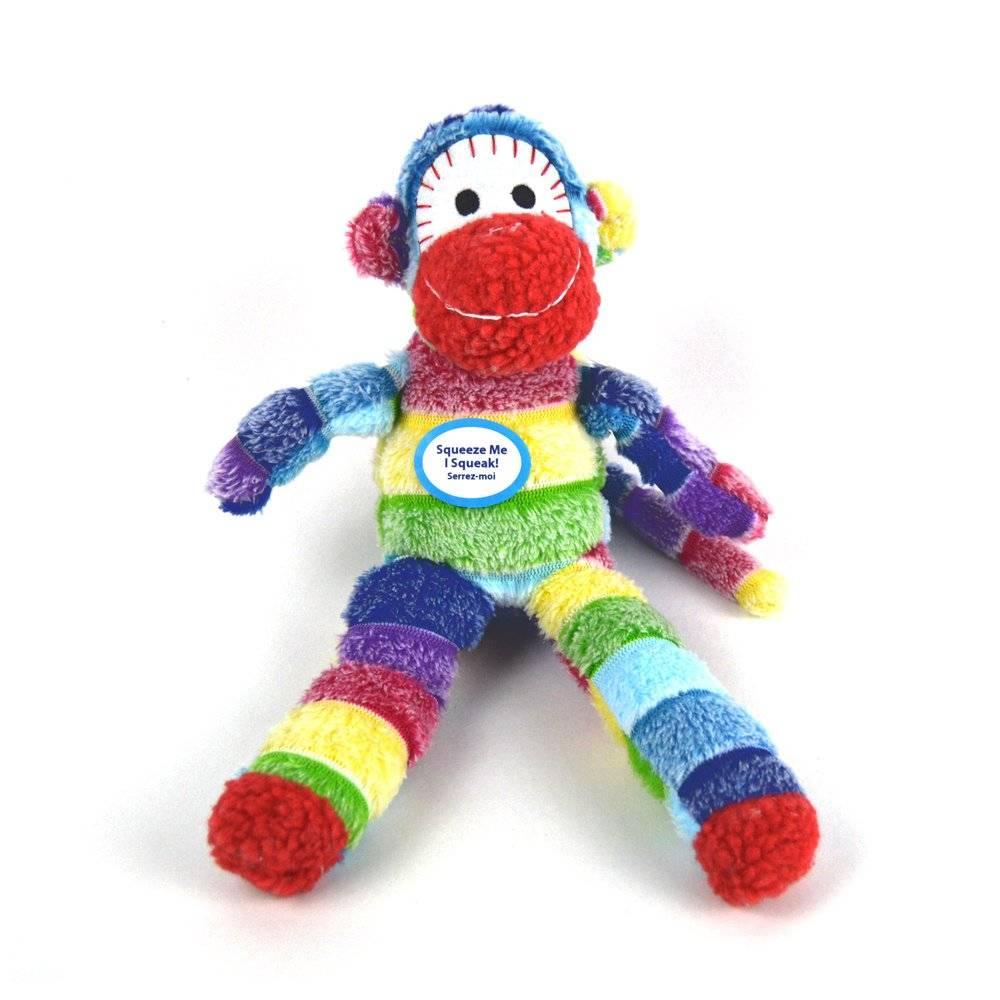 Sock Monkey Dog Toy
