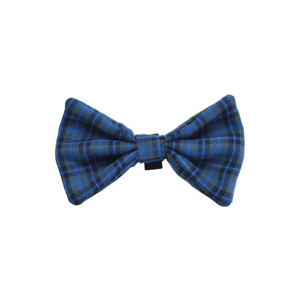 Blue Tartan Dog Bow Tie
