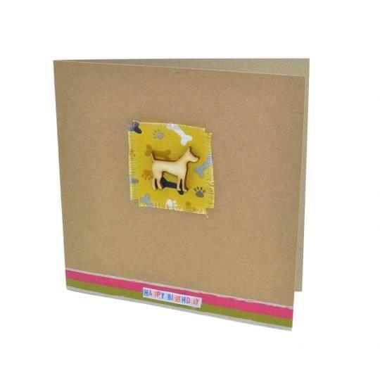 Yellow dog birthday card