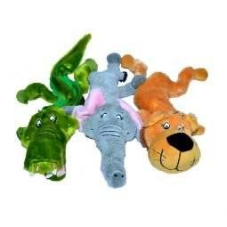 Wild Animal Crinkly Dog Toy