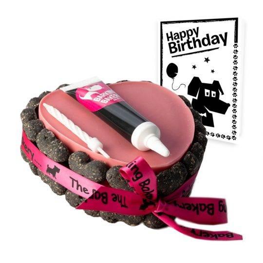 Dog Birthday cake heart with bones